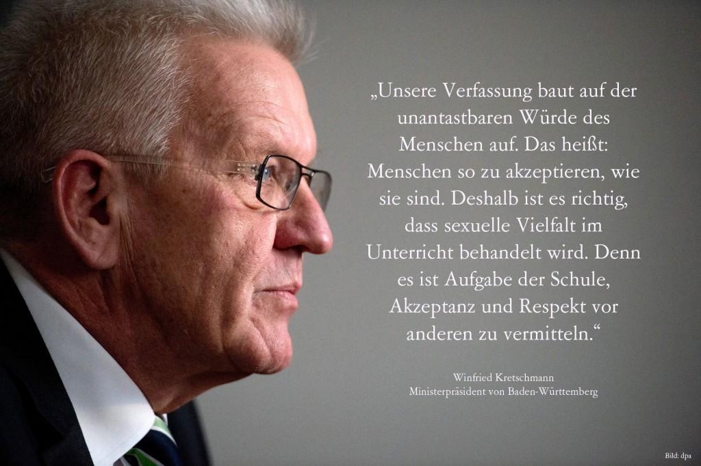von der Facebook-Seite von Winfried Kretschmann